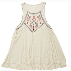 nwt   Others Follow Paisley Embroidered Tank Top